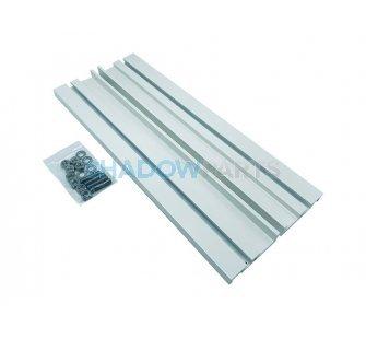 Verlengde aluminium Muursteun voor Knikarmscherm wit RAL 9010