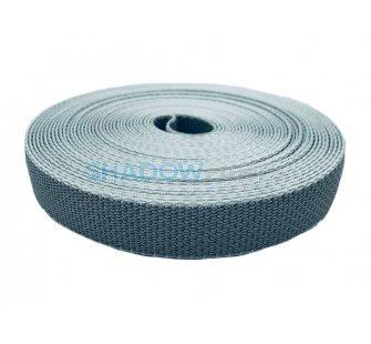 Rolluikband of optrekband 22mm voor rolluiken, grijs met witte zijden