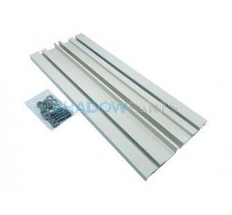 Verlengde aluminium Muursteun voor Knikarmscherm crème wit RAL 9001