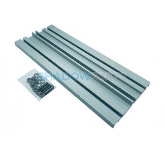 Verlengde aluminium Muursteun voor Knikarmscherm grijs RAL 7035