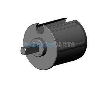 Mono prop voor buis48mm met as vk7mm kunststof