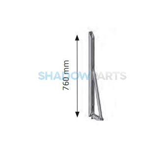Uitvalarm stormvast scharnier aluminium (2st.)
