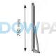 Uitvalarm windvast scharnier aluminium (2st.)