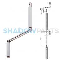 Handgreep knikbaar staal voor buis 14x16mm